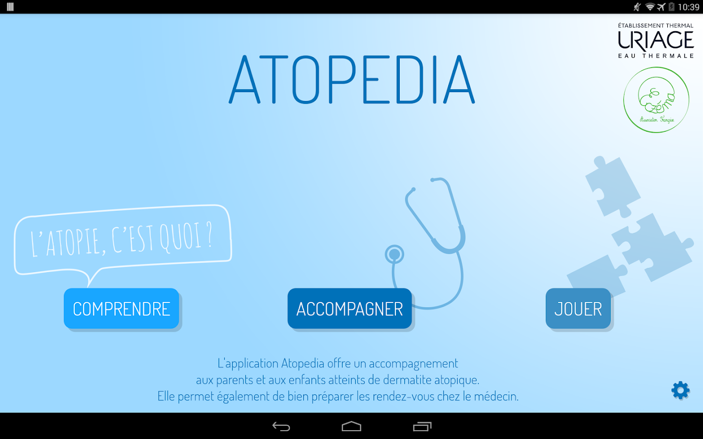 Atopedia – Capture d'écran