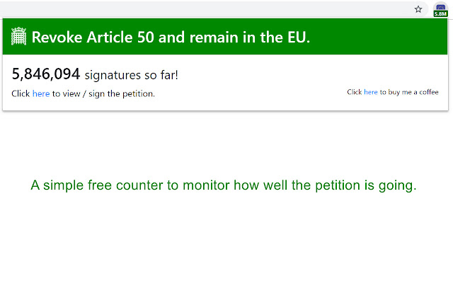 Revoke Article 50 - Petition Counter