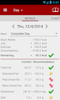 Screenshot of Calories! calorie counter