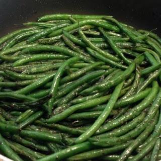 Pan Fried Green Beans.