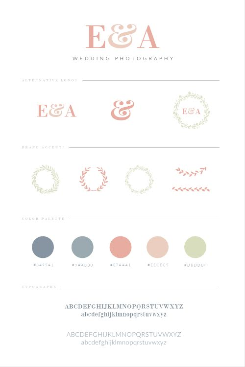 E&A Photography Brand Board - Brand Board Template