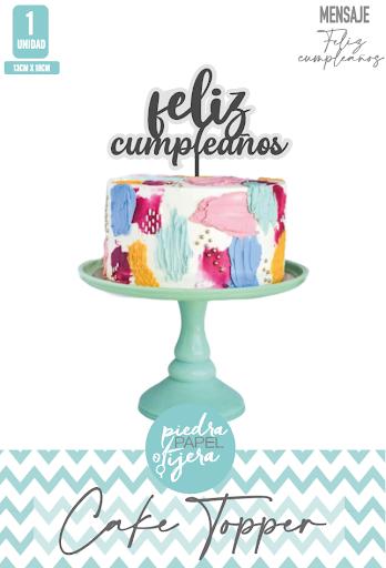 topper para tortas piedra papel o tijera adorno happy birthday y feliz cumpleanos