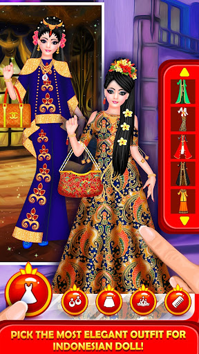Indonesian Doll Fashion Salon Dress up & Makeover 2.0 screenshots 8