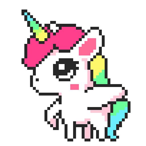 Pixel Art, Pixel Color by Number - Pixel Pop Icon