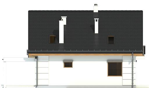 Nowinka VI z garażem i wiatą A1 - Elewacja tylna
