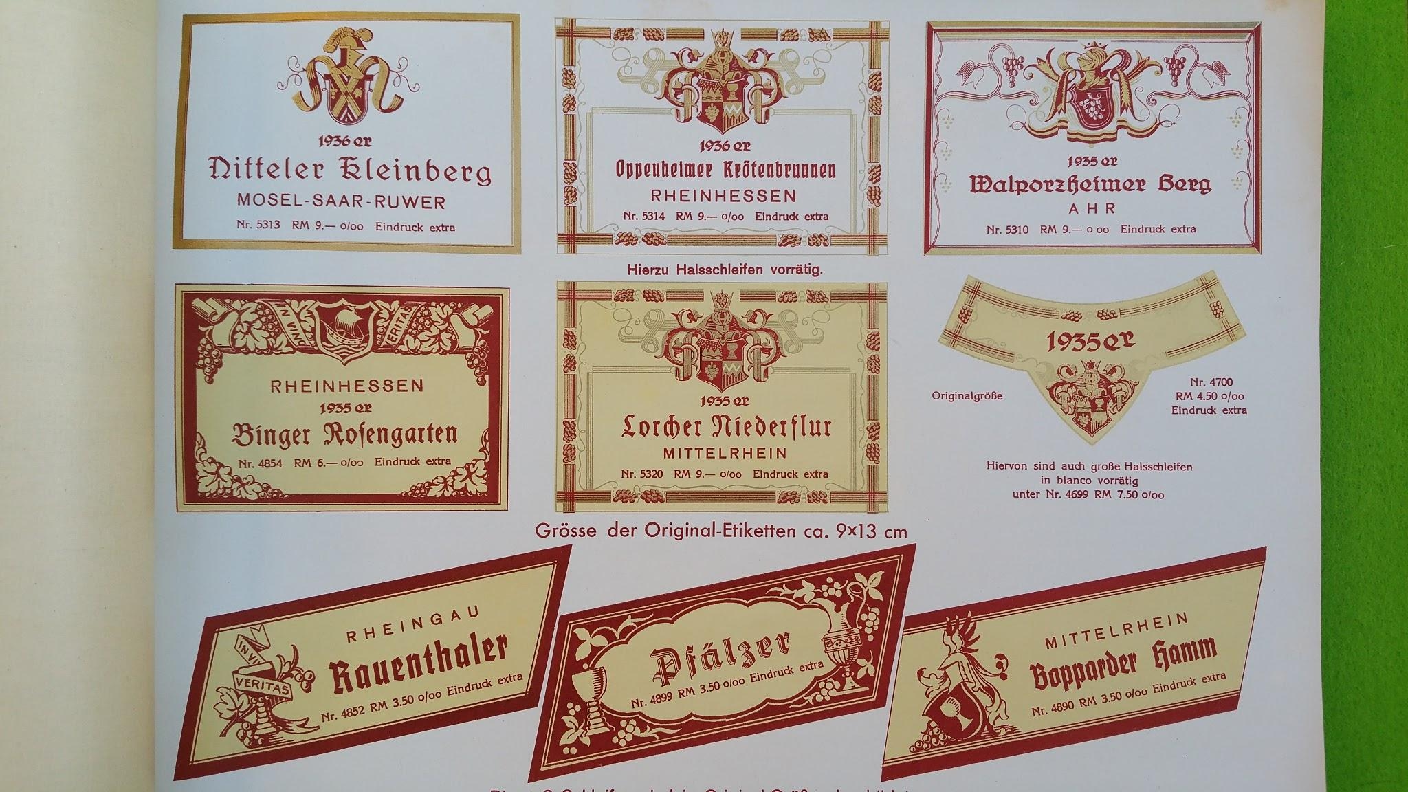 Etikettenfabrik Goetz & Müller Berlin, Neue Schönhauser Str. 20 - Etikettenkatalog 1938