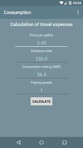 The cost for the trip by car screenshot 2