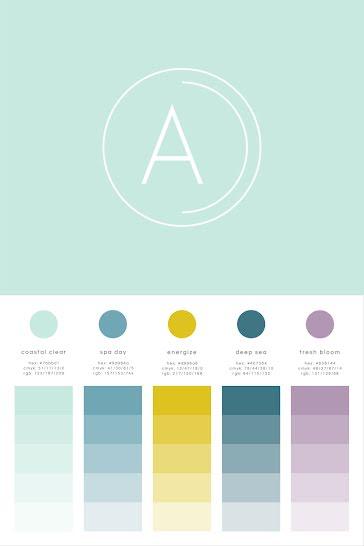 Aqua Spa Brand Board - Brand Board Template