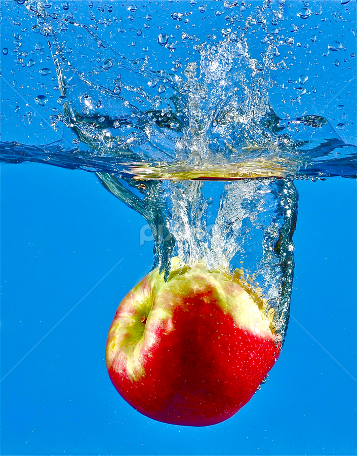 Blue Apple Red by Craig Luchin - Food & Drink Fruits & Vegetables