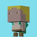 Run Square Head icon
