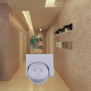 Senzor de miscare pentru bec, rotire 180°, infrarosu, IP 20