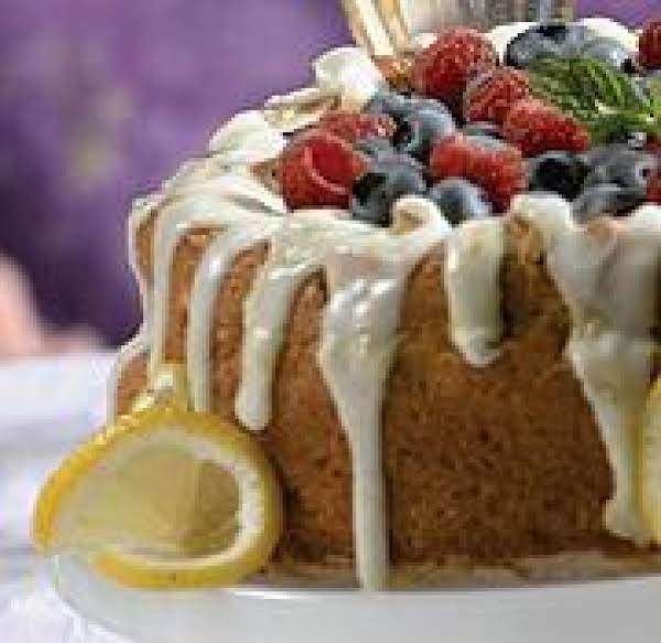 Glazed Lemon Sponge Cake With Fresh Berries Recipe
