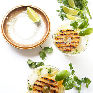 Grilled Pineapple And Cilantro Margaritas.