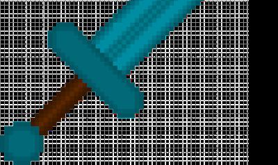 Dit is mijn oude diamanten zwaard, maar dan met een paar details anders. Net wat mooier!