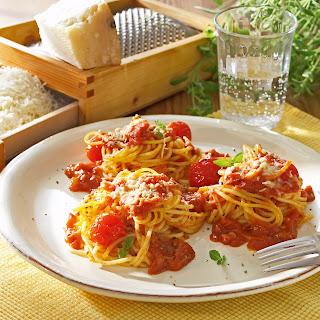 Gratinierte Spaghettinester