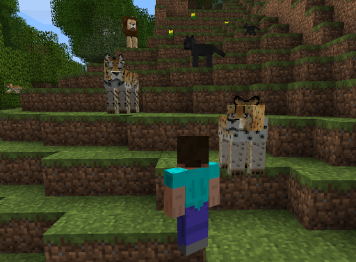 大きな猫modのMinecraftの