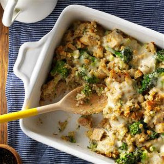 Chicken and Swiss Stuffing Bake