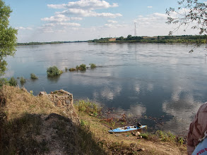 Photo: Tak blisko ruin wody Wisły