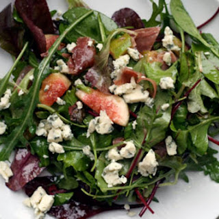 Warm Prosciutto, Fig, and Blue Cheese Salad.