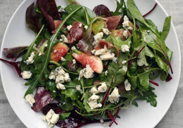 Warm Prosciutto, Fig, and Blue Cheese Salad Recipe