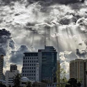 Rays by Joseph Goh Meng Huat - Landscapes Weather ( clouds, ray, weather, joseph goh meng huat, landscape, rays, singapore )
