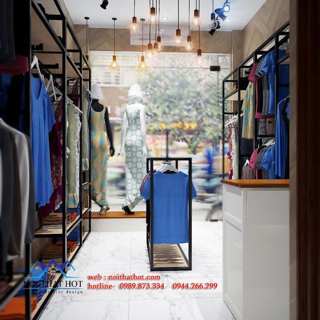 thiết kế shop thời trang trung cao niên