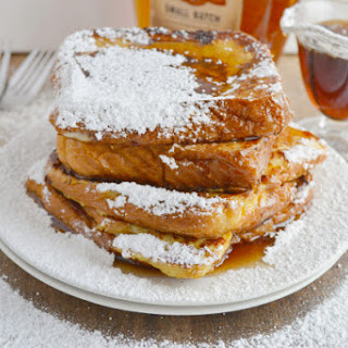 French Toast with Warm Bourbon Vanilla Syrup