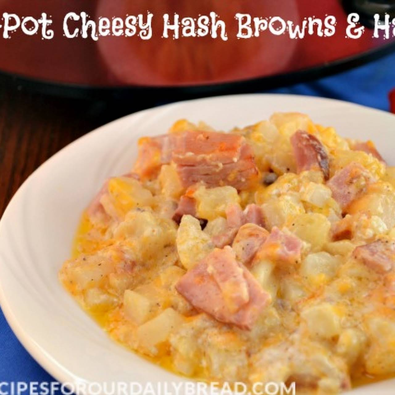 Crock-Pot Cheesy Hash Browns Ham Casserole