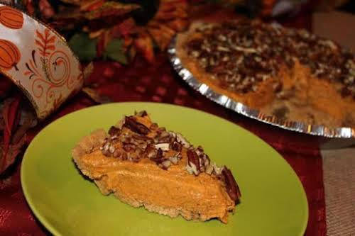 """Butterscotch Pumpkin Pudding Cheesecake """"This creamy yummy goodness has more of a..."""