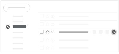 Snooze feature in the new Gmail UI