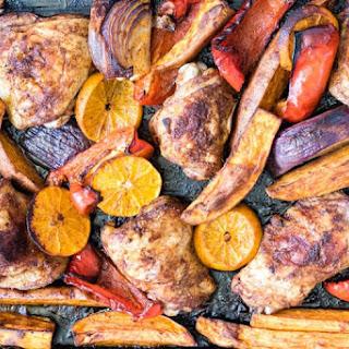 Sheet Pan Baked Chicken Thighs and Sweet Potato Recipe