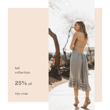 Fall Collection Discount - Instagram Post Template