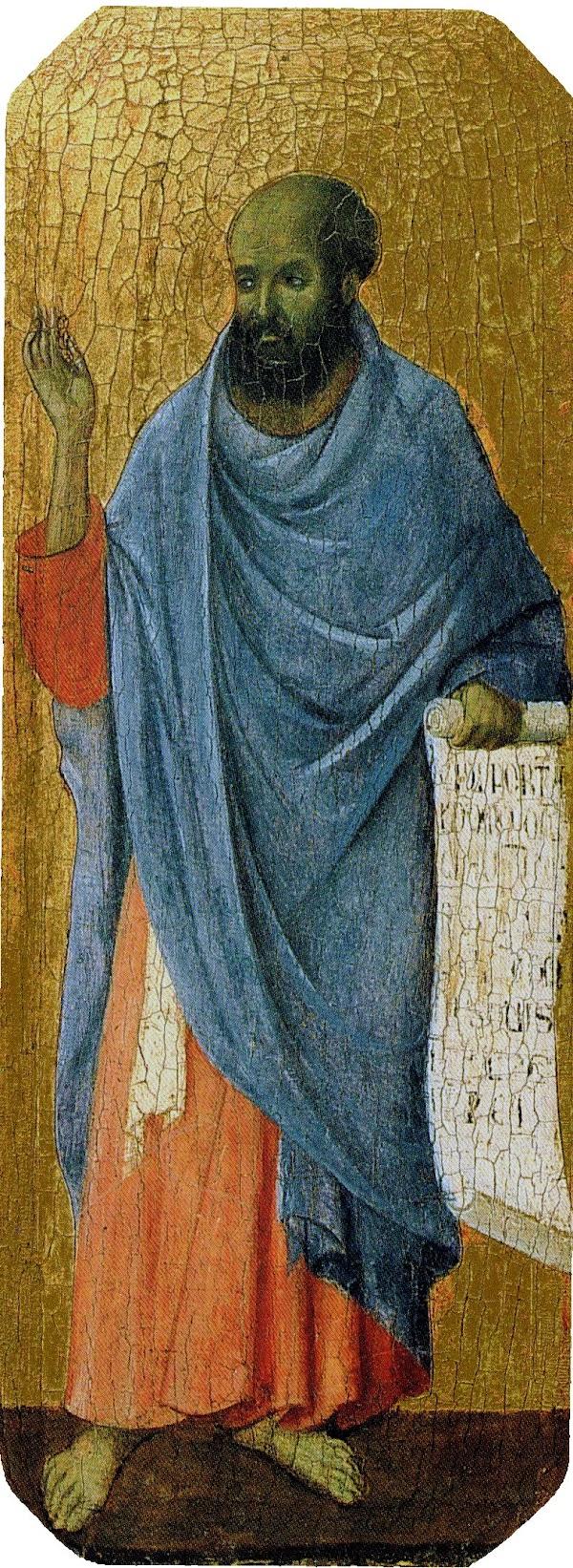 Duccio di Buoninsegna, Predella della Maestà, Ezechiele