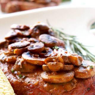 Grilled Steak Marsala.