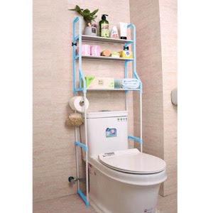 Raft depozitare peste toaleta, 3 polite, etajera baie