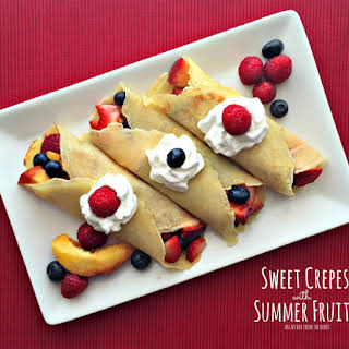 Sweet Crepes with Summer Fruits.