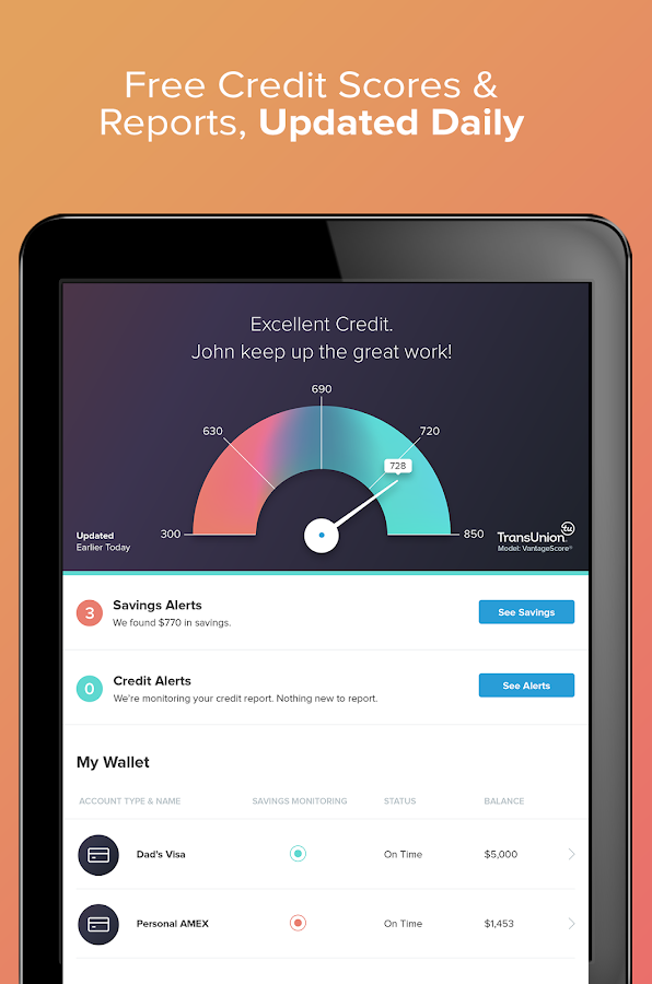 WalletHub - Free Credit Score- screenshot