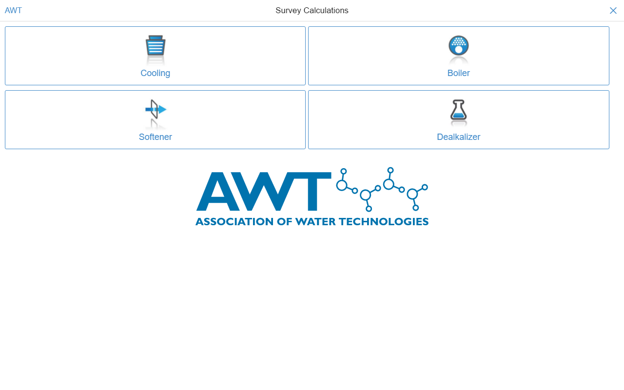 AWT Calculations- screenshot