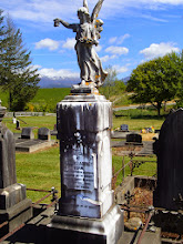 Photo: Memorial to Edward Eban, died of injuries sustained on the Upper Moutere cricket field, 1908, aged 27