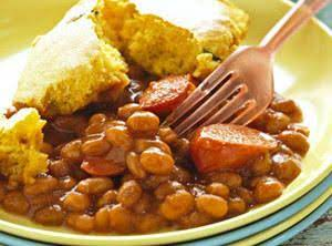 Beans And Weiners & Cornbread