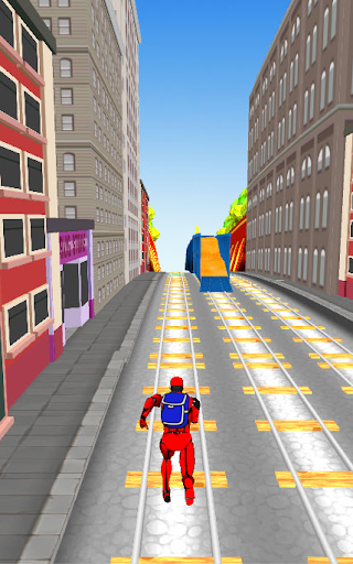 Subway chase with Spiderman