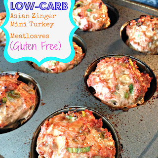 Low-Carb Asian Zinger Mini Turkey Meatloaves (Gluten Free)