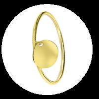 Bague en or femme petite médaille fait main 5 - Bague pour femme minimaliste fait main 24 - www.elitebijoux.fr