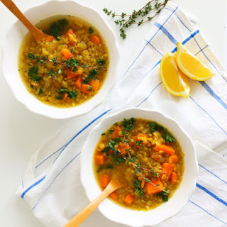 Curried Red Lentil and Sweet Potato Soup