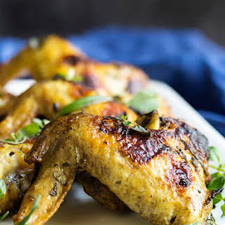 Herb Marinated Grilled Chicken Wings.