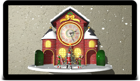 Christmas Animated Clock 3D Screenshot