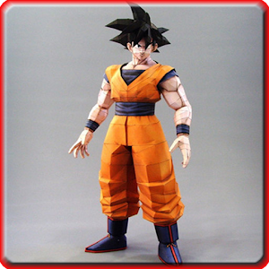 Goku papercraft game for PC and MAC
