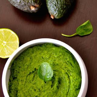 Super Green Spinach Avocado Basil Raw Pesto