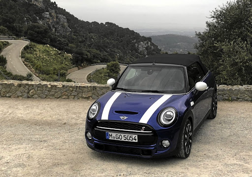 Taking Victoria for a drive in the Mallorcan mountains. Picture: MARK SMYTH