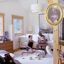 Photo: title: Samantha Appleton, Brian + Beatrice Mathis, Camden, Maine date: 2014 relationship: friends, art, met through Gideon Bok years known: Samantha 15-20, Brian 0-5